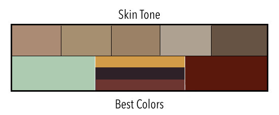 Skin Tone Dark with Warm Undertones