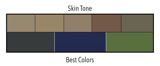 Skin Tone Dark with Cool Undertones