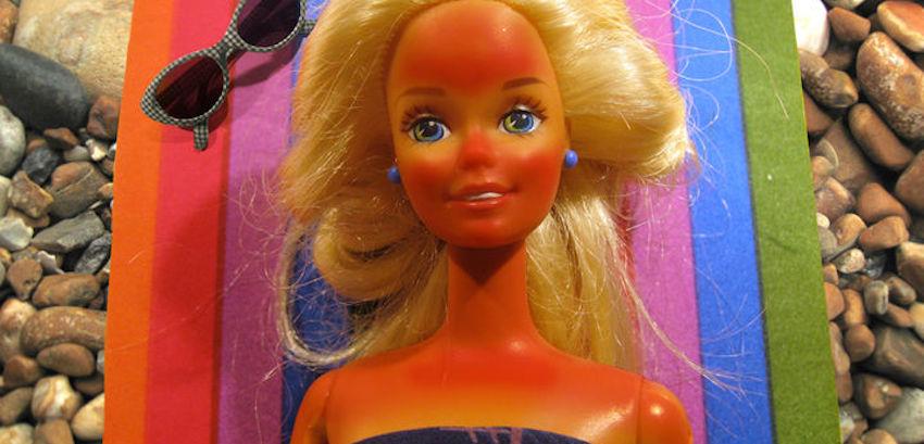 sunburnt barbie